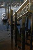Fartyg i den Ketchikan hamnen Arkivfoton