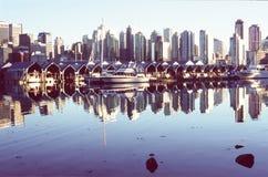 Fartyg i den Vancouver hamnen Fotografering för Bildbyråer
