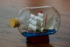 Fartyg i flaskan Royaltyfri Fotografi