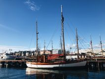 Fartyg i hamn royaltyfri fotografi
