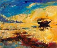 Fartyg i havet Arkivfoton