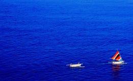 Fartyg i havet Fotografering för Bildbyråer