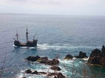 Fartyg i havet Royaltyfri Foto