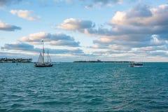 Fartyg i Key West Arkivfoton