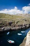 Fartyg i La Valletta Fotografering för Bildbyråer