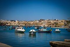 Fartyg i La Valletta Malta Royaltyfri Fotografi