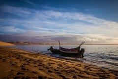 Fartyg i lagun Royaltyfria Foton