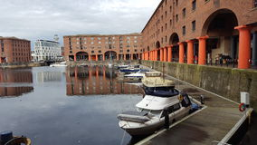 Fartyg i Liverpool Arkivfoto