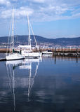 Fartyg i porten av Vigo, Galicia Royaltyfria Foton
