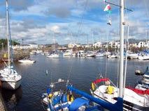 Fartyg i Porthmadog, Wales. royaltyfria foton
