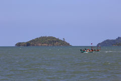 Fartyg i Sihanoukville Arkivfoton