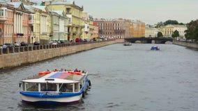 Fartyg i Stet Petersburg arkivfilmer