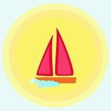 Fartyg i sunen royaltyfri illustrationer