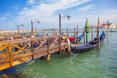 Fartyg i Venedig arkivfoto