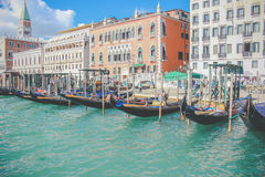Fartyg i Venedig - Italien Arkivbilder