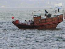 Fartyg i Victoria Harbour Royaltyfri Foto