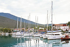 Fartyg i Volos Grekland Fotografering för Bildbyråer