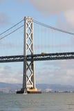 Fartyg- och San Francisco Bay bro Royaltyfria Foton