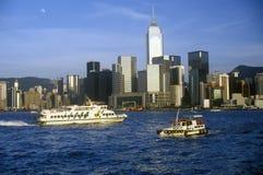 Fartyg och skepp i Hong Kong Harbor Royaltyfria Foton