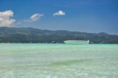 Fartyg på Boracay - Filippinerna royaltyfria bilder