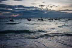 Fartyg på den Ko Tao ön Royaltyfri Foto