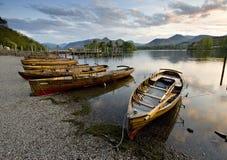 Fartyg på Derwent vatten Arkivfoto