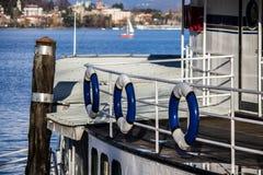 Fartyg på en Lake Royaltyfri Bild