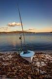 Fartyg på en Lake Royaltyfria Bilder