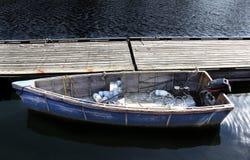 Fartyg på en skeppsdocka Arkivfoto