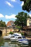 Fartyg på floden Avon, Oxford Arkivbild