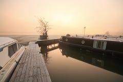 Fartyg på flodThemsen i Oxford Royaltyfria Bilder