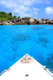 Fartyg på härliga öar Royaltyfria Foton