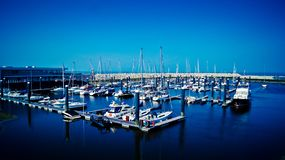 Fartyg på hamnen Fotografering för Bildbyråer