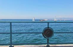Fartyg på hav Royaltyfri Bild