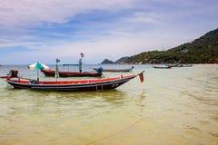 Fartyg på Ko Tao Arkivfoto