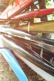Fartyg på kuggar med den ljusa läckan Royaltyfria Foton