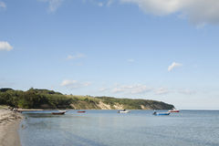 Fartyg på kusten Royaltyfri Foto