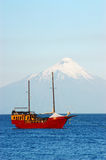 Fartyg på laken Arkivfoton