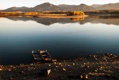 Fartyg på laken Arkivfoto