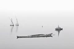 Fartyg på laken Royaltyfri Fotografi