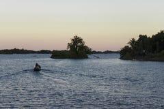 Fartyg på Nicaragua sjön, Isletas royaltyfri fotografi