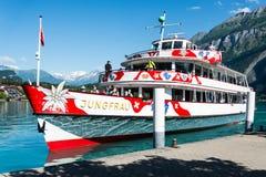 Fartyg på sjön Brienz - Schweiz Royaltyfri Foto