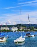 Fartyg på sjön Zurich Royaltyfri Foto