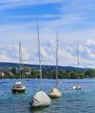 Fartyg på sjön Zurich Arkivbilder