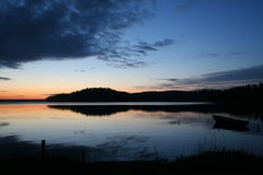 Fartyg på solnedgången Arkivfoton
