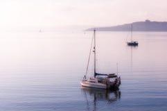 Fartyg på St Mawes Arkivfoto