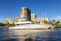 Fartyg på strand returnerar i Fort Lauderdale Fotografering för Bildbyråer
