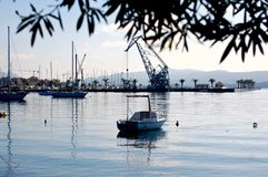 Fartyg på Tivat Porto Montenegro Arkivfoto