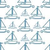 Fartyg på vit bakgrund Arkivbild