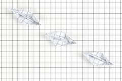 fartyg paper tre Royaltyfri Bild